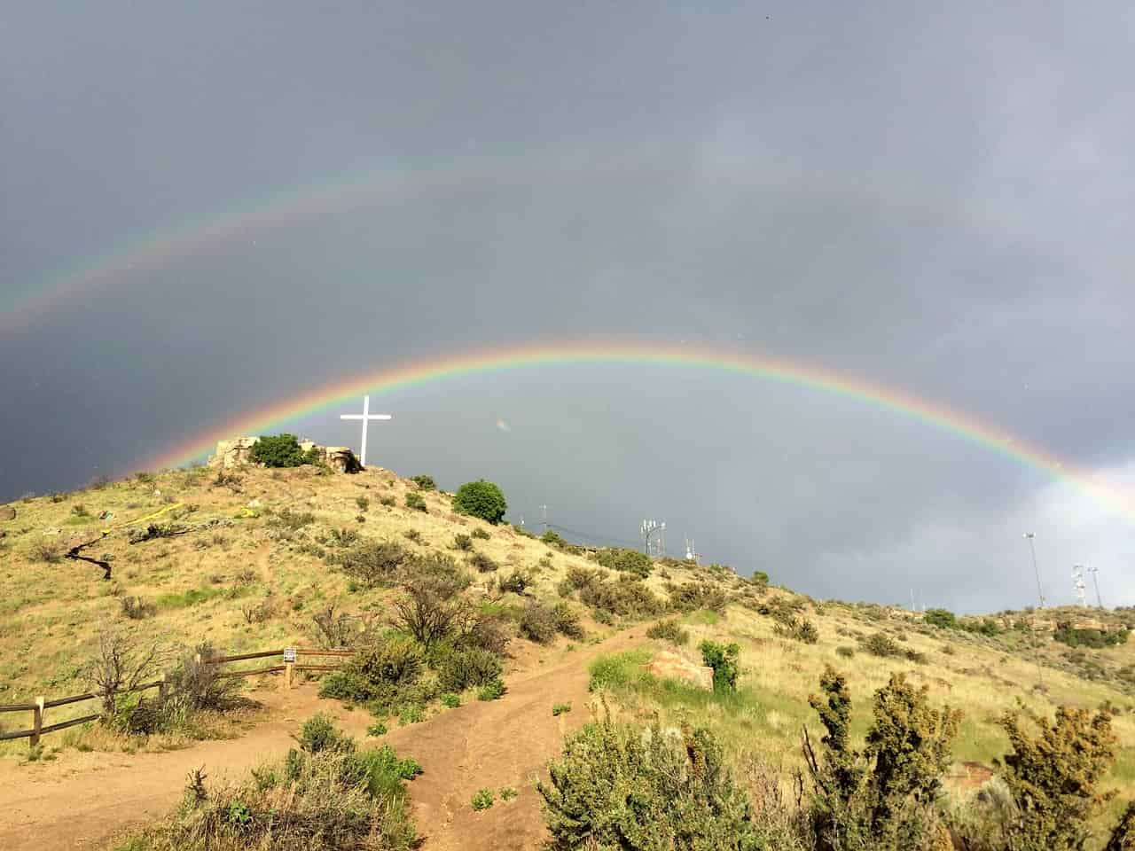 What is a double rainbow?